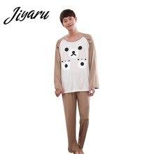c8233c8670 Autumn Winter Pyjamas Men Sleepwear Long Sleeves O-Neck Pajama Sets Men  Boys Cartoon Home Lounge Male Pyjamas for Men