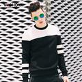 VIISHOW Autumn Fashion Hip Hop Mens Sweatshirts Patchwork Full Sleeve  Striped Tracksuits For Mens Sweatshirt Hoodies