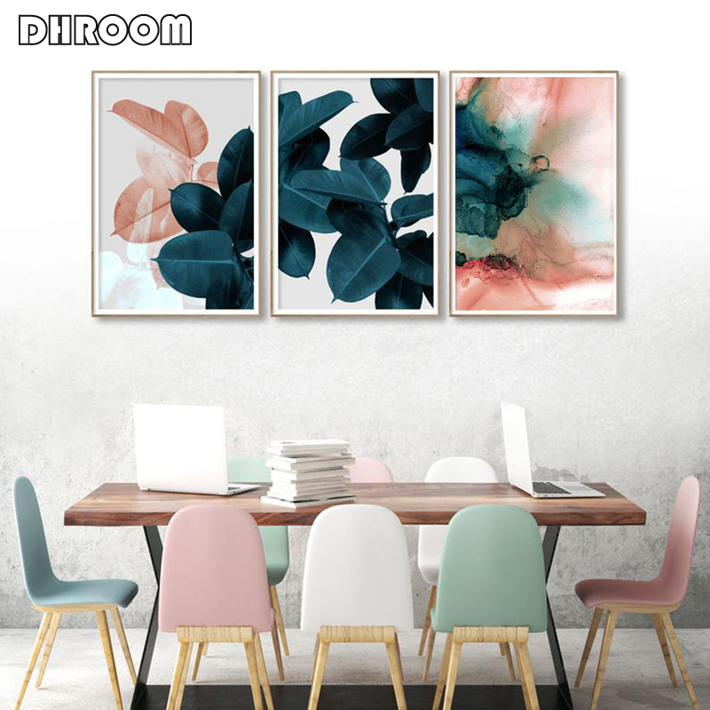 HTB10eCwObrpK1RjSZTEq6AWAVXaT Wall Pictures for Living Room Leaf Cuadros Picture Nordic Poster Floral Wall Art Canvas Painting Botanical Posters and Prints