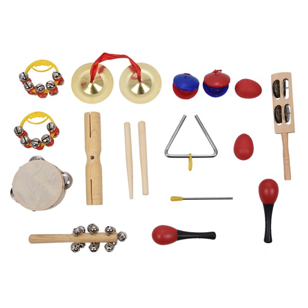 цена на HOT Percussion Set Kids Children Toddlers Music Instruments Toys Band Rhythm Kit with Case