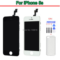 For IPhone 5S White LCD Display Repair Assembly Full Front Assembly With Front Camera Sensor Holder