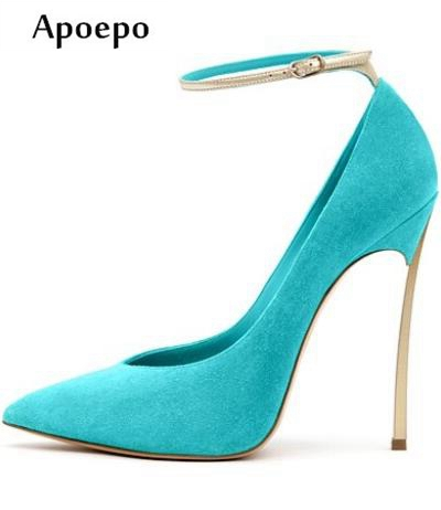 New 2018 Hot Selling High Heel Shoes Sexy Pointed Toe Thin Heels Pumps for Woman Ankle Strap Party Heels Office Lady Heels new women s high heels pumps sexy bride party thick heel round toe genuine leather high heel shoes for office lady women t8802