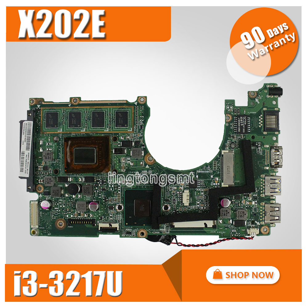 for ASUS X202E X201E S200E X202E REV 2.0 Motherboard Processor i3-3217U laptop mainboard main board tested working samxinno for asus x751ma motherboard x751md rev2 0 mainboard processor n2830 2g memory on board 100% test