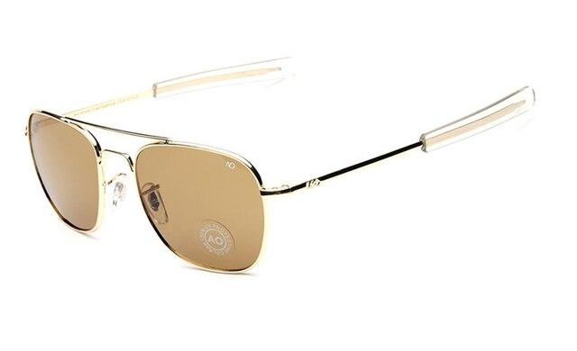 Brand New Army AO Sunglasses Men American Optical Aviator Lens 12K Gold  Plated James Bond Pilot Sunglasses oculos 286 897246bdb66f