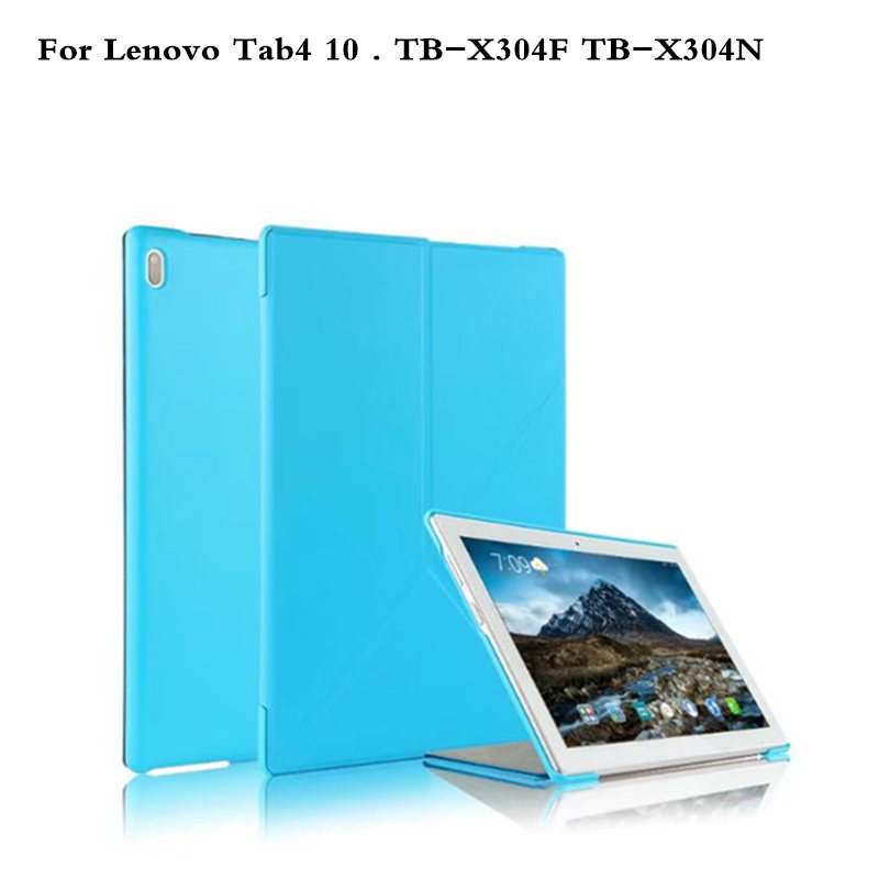 Case For Lenovo Tab 4 10 TB-X304L TB-X304F TB-X304N 10.1Protective Smart cover PU Leather For tab4 10 TB X304L Tablet Cover ultra slim cover case for lenovo tab 4 10 2017 release for lenovo tab410 tab4 10 tb x304n f cases 10 1 smart case cover gitf