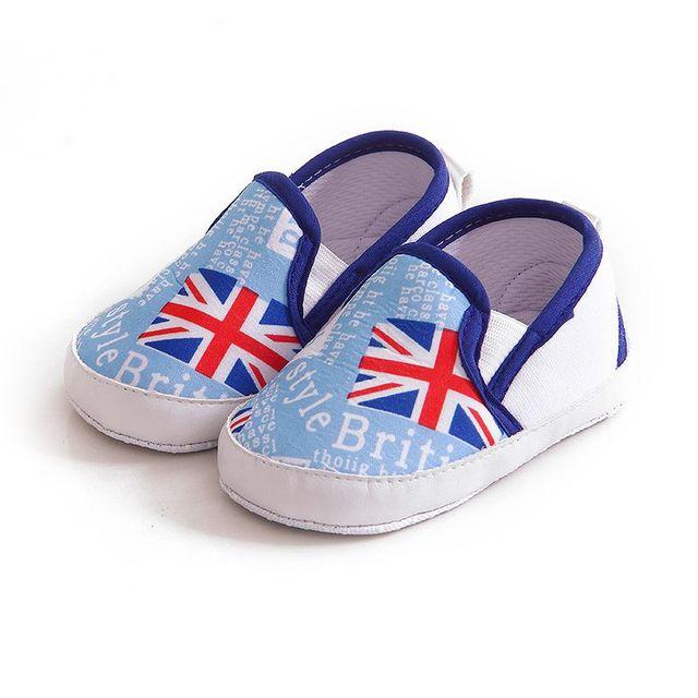 87605a52237c4 1 Paire Enfants Bébé Fond Mou de Marche Chaussures Garçon Fille Rayé Anti-Slip  Sneakers