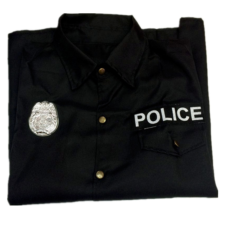 Купить с кэшбэком Masquerade Mischief Cosplay Costume Police Clothing Male American Police Uniform State Performance Dress Halloween Costume