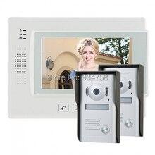 """7 """" TFT LCD Video videoportero Intercom timbre Home Security Monitor de la cámara visión nocturna 2V1"""
