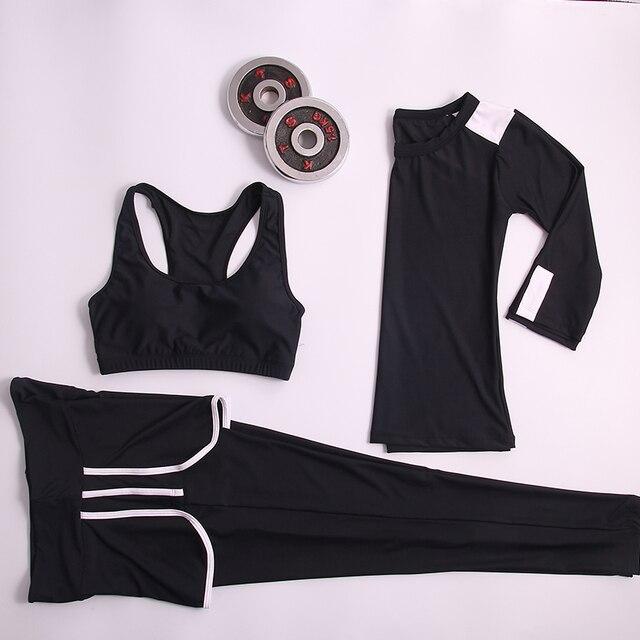 2016 спортивный костюм женский новый спортивный костюм женщины Спорт фитнес сексуальная тепловая формировании быстросохнущие Ветрозащитный Тепловые твердые Йога Набор 10 цветов спортивные костюмы женские