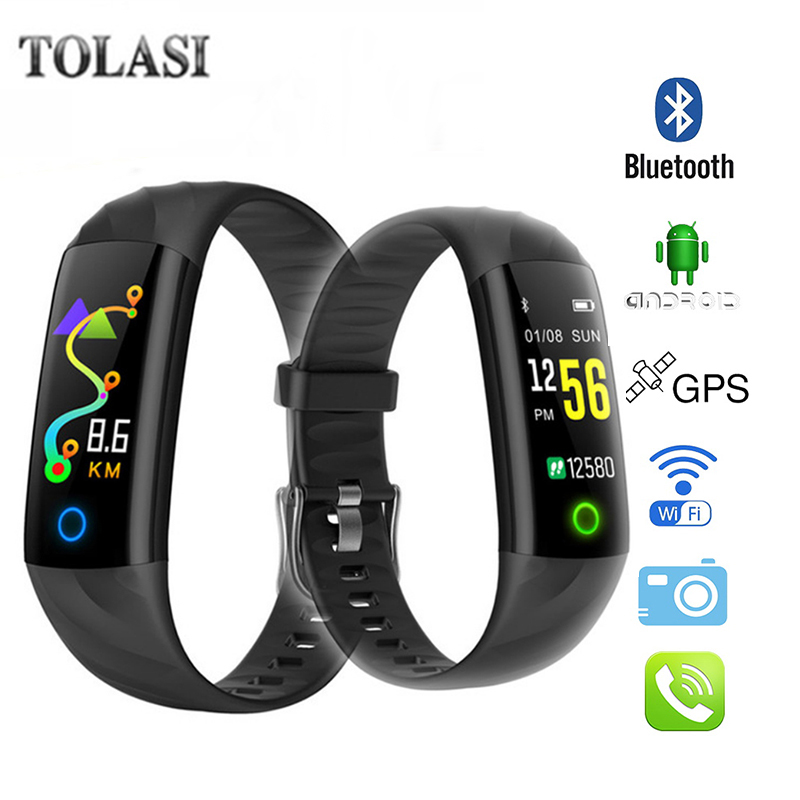 Sport Smart Watch S5 IP68 Waterproof Wristband Heart Rate Fitness Bracelet Blood Pressure Monitor Activity Tracker Smart Band купить в Москве 2019