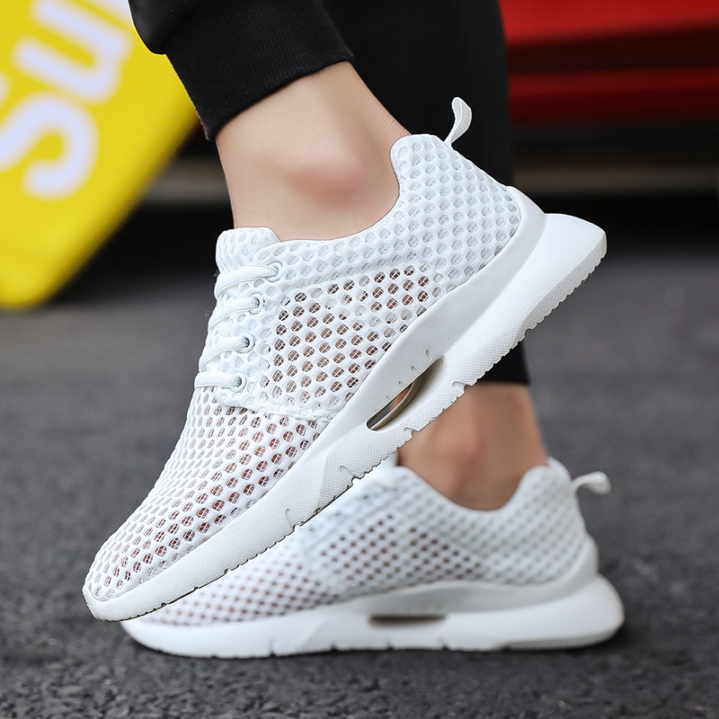 Bomlight Ultra Light Casual Vulcanize Shoes Mens White Sneakers 2019 Lace Up Flats Shoes Man Cheap Breathable Footwear Zapatos(China)