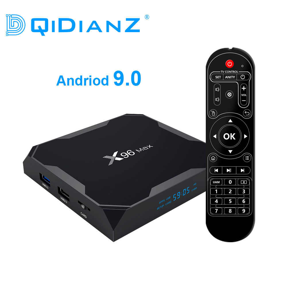 Dqidianz X96max Android 9.0 Smart TV Box Amlogic S905X2 Quad Core 2.4G & 5.8G Wifi BT X96 Max đa Phương Tiện Set Top Box