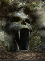 Spooky cave entrance shape skull photo studio background Vinyl cloth High quality Computer print Halloween backdrops