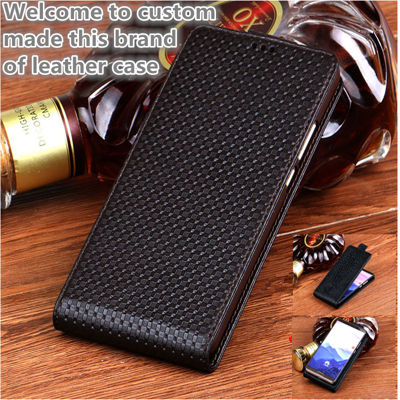 QH05 Genuine Leather Vertical Flip Case For Samsung Galaxy J7 2018 Vertical Flip Up and Down Phone Case For Samsung Galaxy J7108