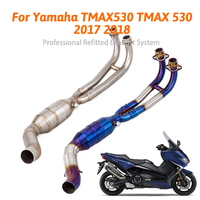 Tmax 530 Motorcycle slip on Exhaust Front down Pipe Escape muffler Connection Full System For Yamaha TMAX530 TMAX 530 2017 2018