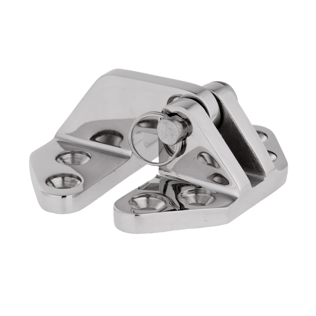 1 Pc 316 Stainless Steel Hatch Hinge with Universal Removable Pin Marine Boat Hardware Durable Boat Accessories 6.9 x 6.5 x 3 cm