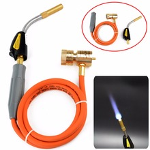 New Mapp Gas Self Ignition Plumbing Turbo Torch With Hose Solder Propane Welding for Air Conditioning Refrigerator Repair Tool 2017 gas welding torch mapp mayitr welding plumbing self ignition turbo torch propane brazing soldering burner heating