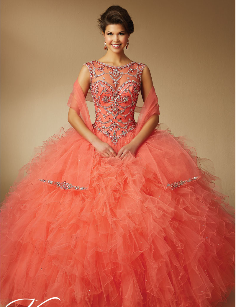 High Quality Coral Quinceanera Dresses 2016-Buy Cheap Coral ...