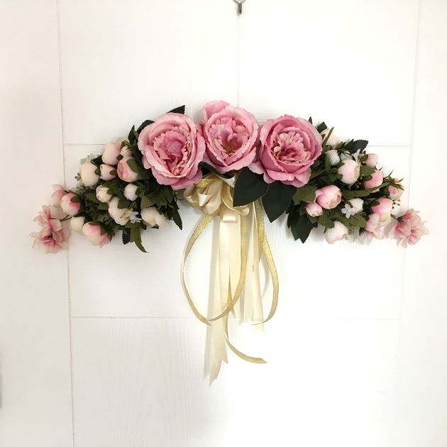 Artificial Silk Flowers Tea Rose Peony Wreaths Mirror Flowers Door Lintel Flower Vine Party Supplies Home Wedding Decoration-in Artificial u0026 Dried Flowers ... & Artificial Silk Flowers Tea Rose Peony Wreaths Mirror Flowers Door ...