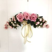 Artificial Silk Flowers Tea Rose Peony Wreaths Mirror Flowers Door Lintel Flower Vine Party Supplies Home Wedding Decoration