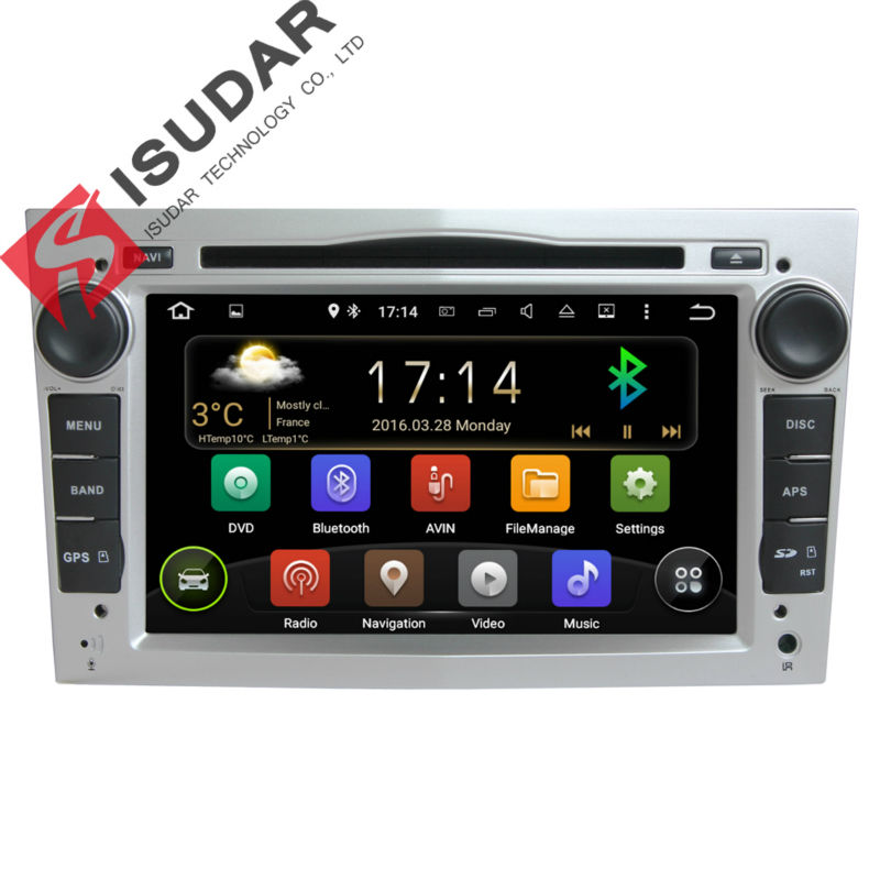 Three Color 2 Din 7 Inch Car DVD Player For OPEL Corsa Vivaro Meriva With Canbus