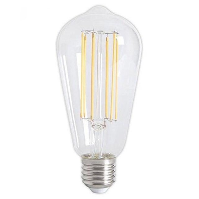 ST64 E26 E27 2700 K Schroef Classic Dimbare LED Gloeilamp Clear Glas ...