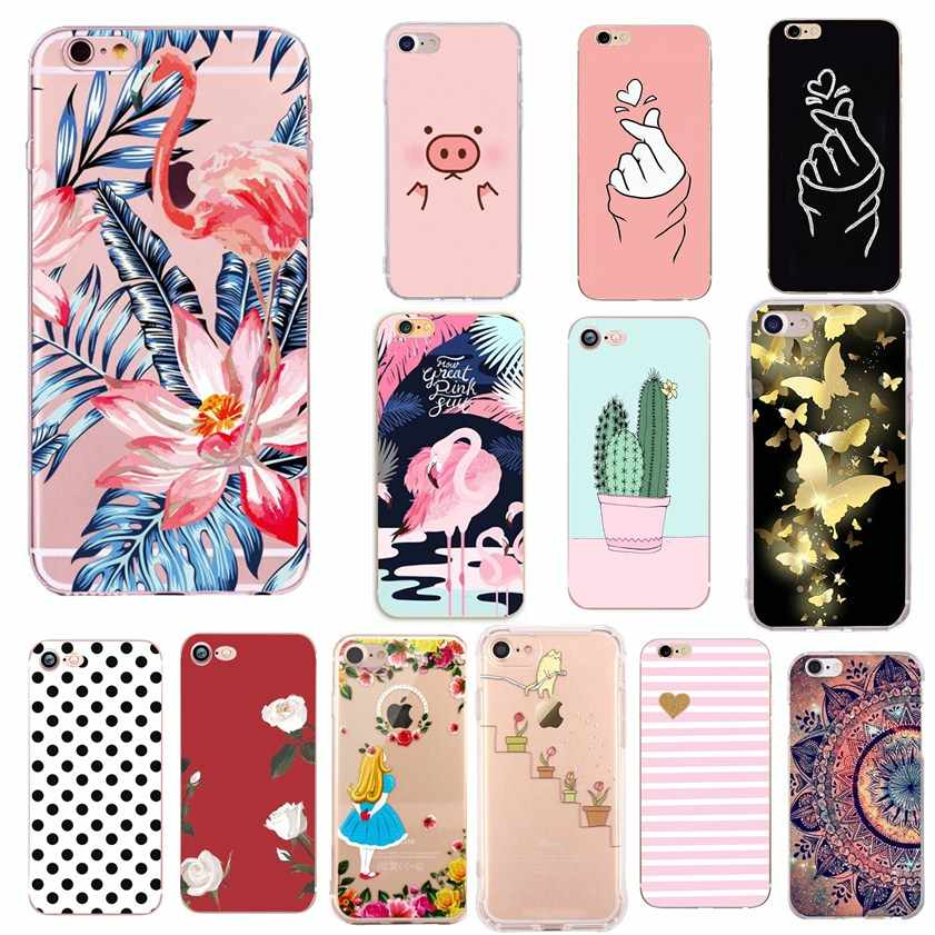 Capas For iphone 8 plus case luxury For Women Silicon Phone Cases For fundas iphone 7plus 8Plus 7 plus X XS 6 S 6S 5 5S SE Case
