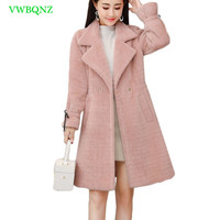 Winter Coat Women Manteau Femme Hiver abrigos mujer invierno 2018 new casaco feminino Wool coat short solid Pink Warm Coats A804