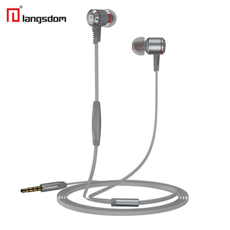 Original Langsdom M410 Metal Earphones HD HIFI Bass Stereo Earphone With Mic For iPhone 6 Plus Samsung Xiaomi MP3 Sports Earpods