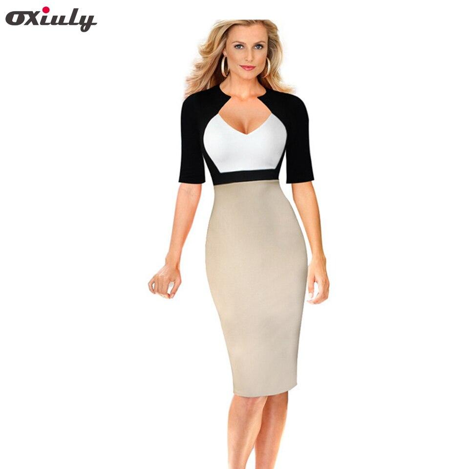 41ce073a739 Oxiuly плюс размеры 4XL 5Xl для женщин элегантные платья для V средства  ухода за кожей Шеи