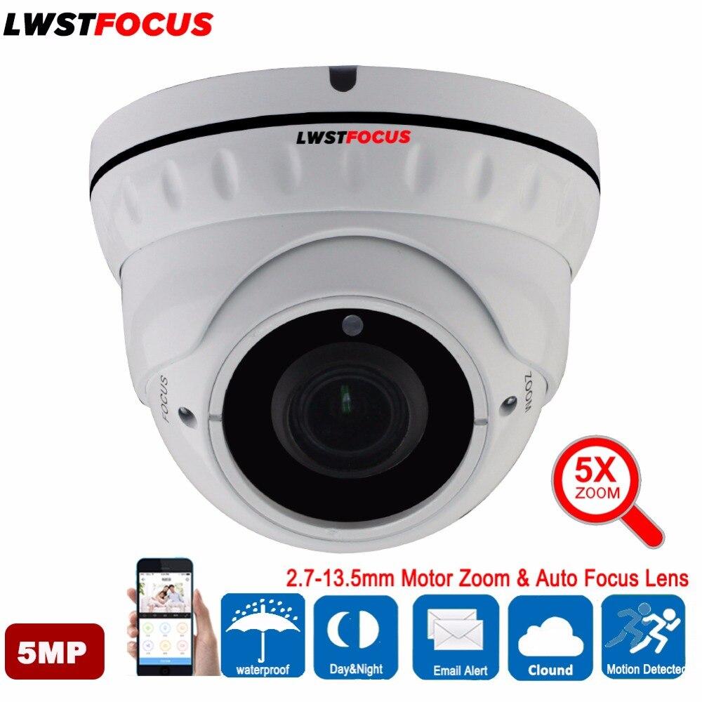 LWSTFOCUS 2 7 13 5mm Motor Zoom Auto Focus Len 5MP AHD Camera 30M IR Night