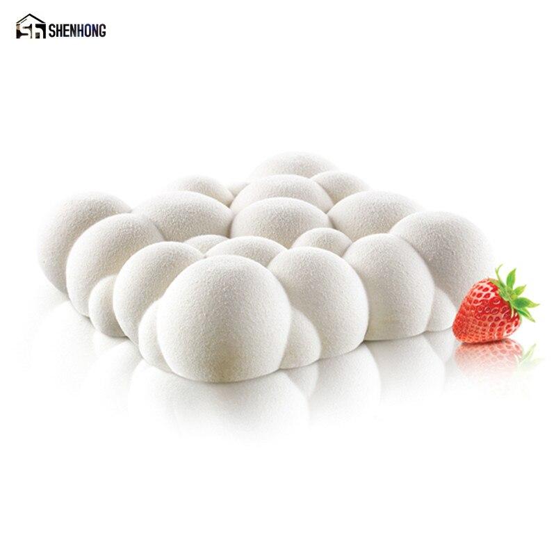 SHENHONG Sales Promotion Irregular Cloud Design 3D Cake Moulds Silicone Mold Geometric Rhombus Chocolate Pastry Art Pan Bakeware