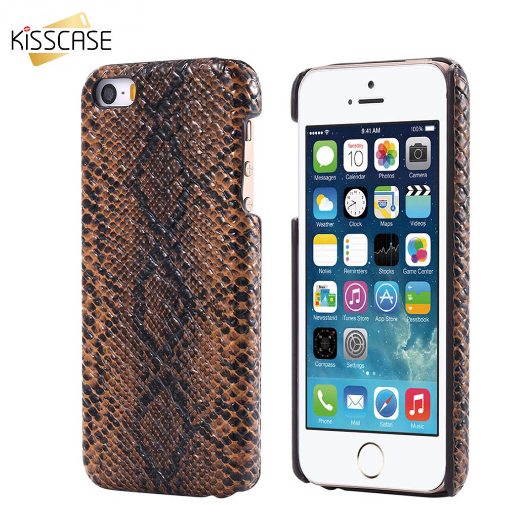 Kisscase Retro Snake Skin Pattern Phone Cases For Iphone 5 5s Se 6 Case 7 Plus Totu Design Crystal Color Dark Blue 6s Luxury Ultra Thin Cover Samsung Galaxy S7