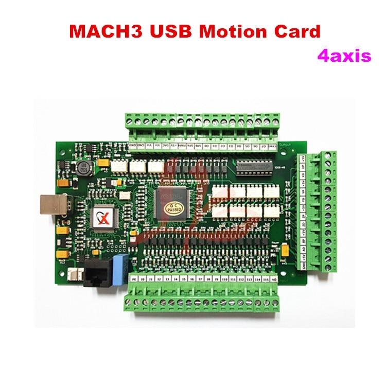 CNC 4 AXIS motion control card MACH3 USB interface board control board engraving machine mach3 usb motion controller card breakout board for cnc engraving 4 axis 100khz