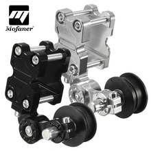 Black Silver Universal Aluminum Adjuster Chain Tensioner Roller For Motorcycle  Chopper