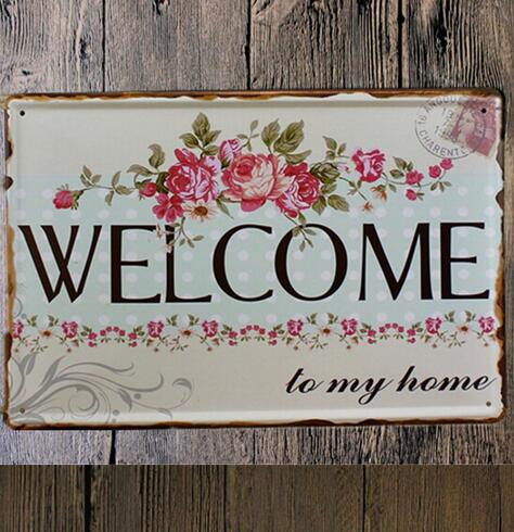 Hot Ing Tin Metal Sign Poster Welcome To My Home Wall