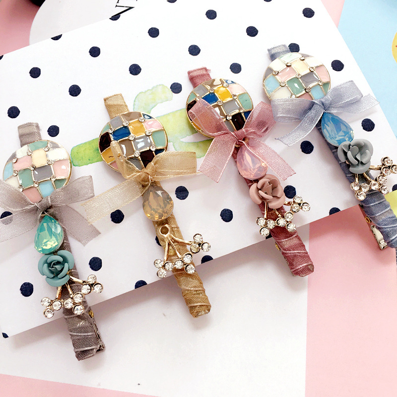 Korea Cloth Flower Crown Hair Accessories Weave Hair Bows Rim Hairpin Hair Clips For Women Headbands For Girls Barrette -4