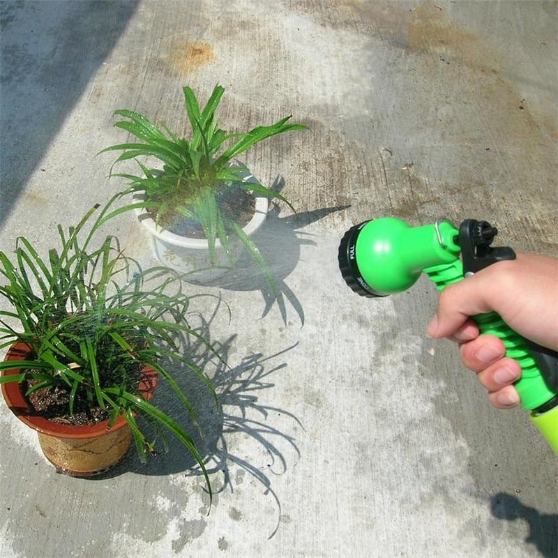 Rociador de agua para jardín, rociador de césped, pistola de agua para lavado de coches, boquillas de manguera ajustables, arandela de potencia de alta presión con 7 patrones
