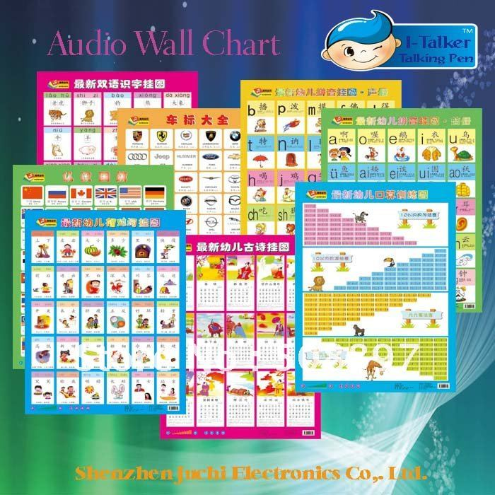 Preschool learning audio wall charts also in books from office  school rh aliexpress