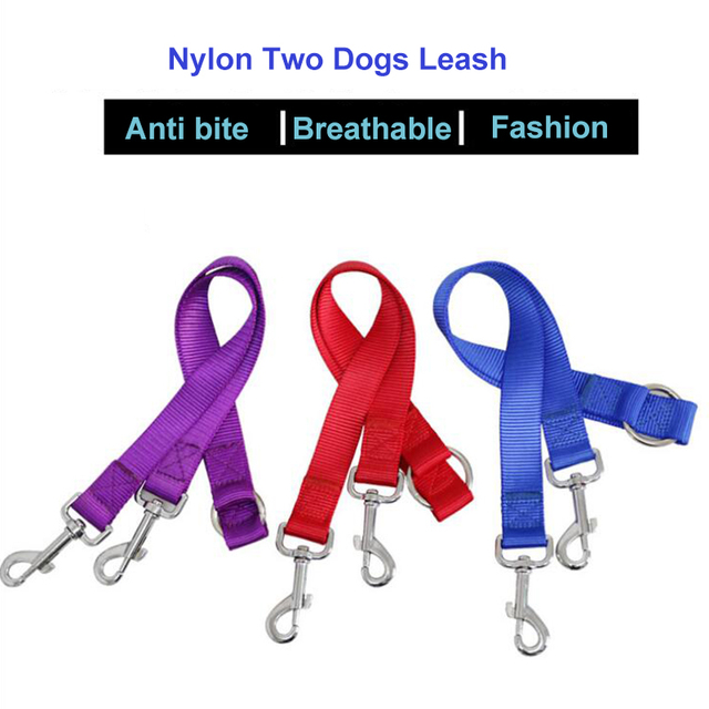 WALK 2 Two DOGS Leash COUPLER Double Twin Lead Walking Leash 1