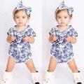 Bebê recém-nascido Menina Infantil Floral Macacão Sunsuit Bodysuit Outfits Roupas