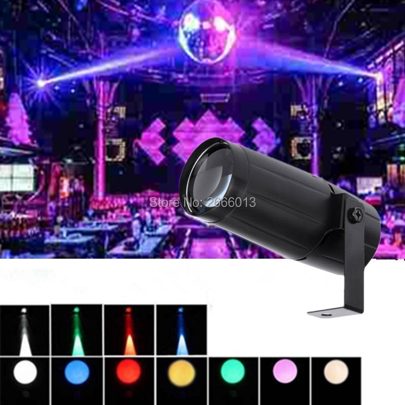 Niugul Insgesamt 5 W LED Runde Strahl Pinspot Licht Scheinwerfer/Super Helle Lampe Spiegel Kugeln DJ Disco Wirkung Bühne beleuchtung Für KTV DJ