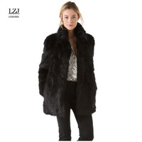 LZJ 2017 winter new imitation fur coat mink Middle East luxury ladies long coat fur coat lady large Casaco Feminino size 3XL