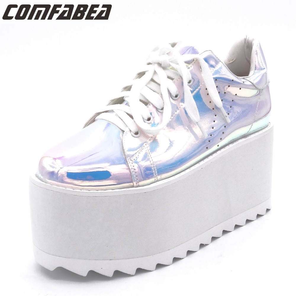 Platform Shoes Women Spring Autumn 2018 New Arrival Designer Pink Black Fashion Creepers Ladies Flats Shoes Harajuku Creeper new spring autumn women shoes pointed toe high quality brand fashion ol dress womens flats ladies shoes black blue pink gray