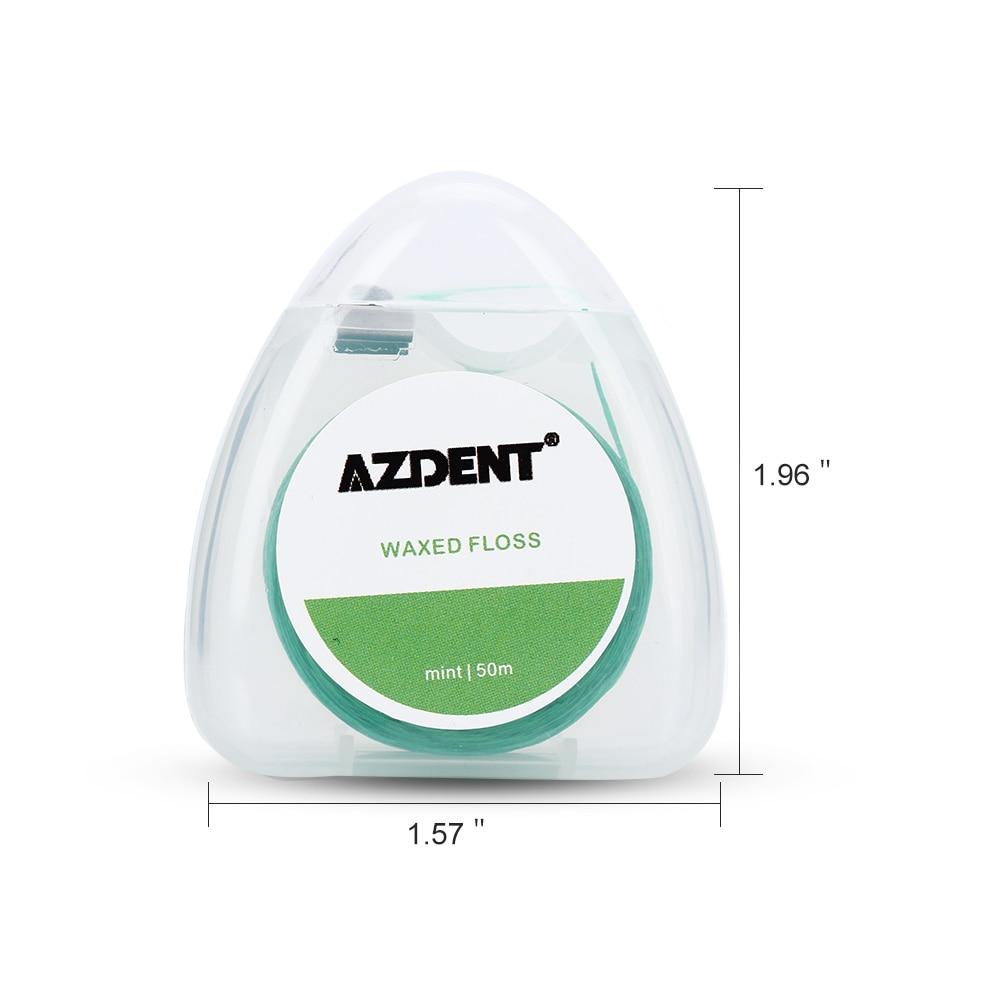 AZDENT 50 м/катушка мятный вкус Вощеная зубная нить встроенная катушка проволока зубочистка зубная нить Замена сердечника межзубная щетка