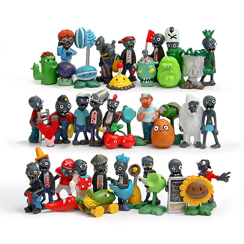 40pcs/lot Plants vs Zombies 2 PVC Action Figures Toys PVZ Plant and Zombies Figure Toy Collection Model Toys Dolls Home Decor new 10cm kids toys pvz plants vs zombies peashooter pvc action figure model toy plants vs zombies toys for baby gift