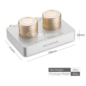 Image 4 - Nobsound transformador de Audio de paso hacia arriba, Cartucho de etapa móvil MC, preamplificador pasivo para teléfono PC/reproductor de CD/tocadiscos MC