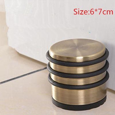 1 Pcs Durable  Floor Door Stopper Stainless  Door Stopper Interior Rubber Floor Mounted Door Holder Catch Stop For Door Stopper