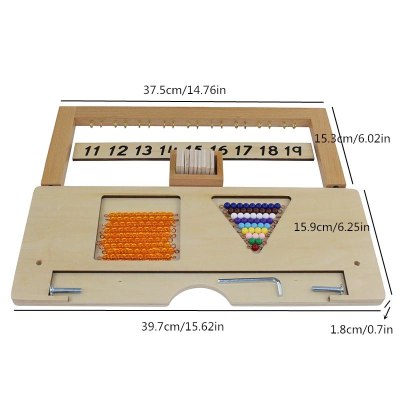 Montessori mathématiques enseignement aides maternelle enfants jouets en bois adolescent perle cintre - 5