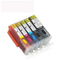 5pcs PGI550 Refillable Ink Cartridge For CANON MG5450 MG5550 MG6450 Ip7250 MX925 MX725 Pgi 550 Cli